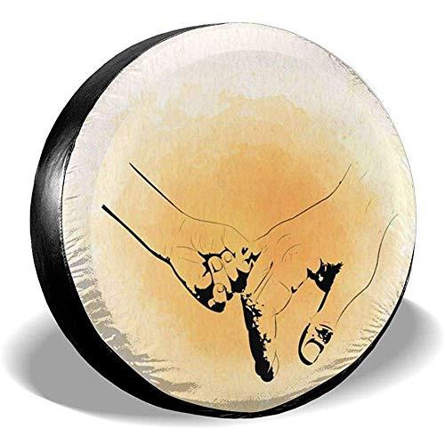 Hiram Cotton Spare Tire Cover Mano nella Mano Ruota di Scorta Copertura Pneumatici Fuoristrada velocità Estrema Overdrive Univers
