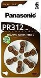 Panasonic 1766 Hörgerätebatterien Zinc-Air PR312
