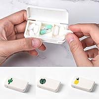 , tragbare Medizin Speicher Mini Pillendose Tablettenbox Organizer für Reisen Outdoor, Pille Medizin Container... preisvergleich bei billige-tabletten.eu
