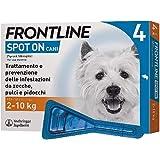 Frontline Spot On, 4 Pipette, Cane Taglia S (2 - 10 Kg), Antiparassitario per Cani e Cuccioli di Lunga Durata, Protegge da Ze
