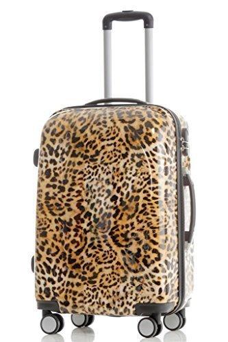 Léopard-valise à roulettes disponible : set de 4 pièces-trolley m, l, xL beauty case -, multicolore (Multicolore) - BEI-V2060-Var