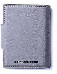 Antonio Miró Tarjetero Piel para 20 compartimentos - en caja con logotipo ideal para regalo