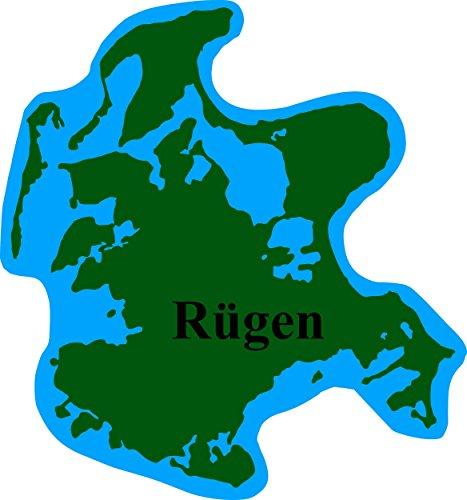 Preisvergleich Produktbild Aufkleber Rügen Landkontur 90 x 85 mm ~~~~~ schneller Versand innerhalb 24 Stunden ~~~~~