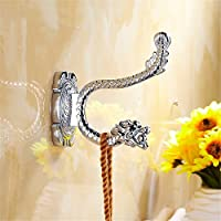 Coat Hook then hook solid garment hook CLOTHES HOOK Living Room Bathroom door rear hook continental Wall hooks,Extreme Dragon-Chromed