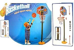 Kinder Basketballkorb mit Ball u. Pumpe für drinnen u. draußen, Mini Basketball