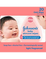 Johnson's Baby Skincare Wipes (20 cloth wipes)
