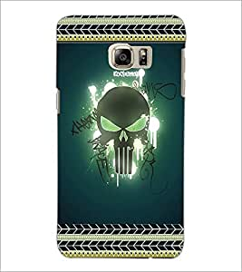 PrintDhaba Skull D-2521 Back Case Cover for SAMSUNG GALAXY NOTE 5 EDGE (Multi-Coloured)
