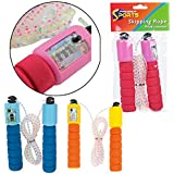 SKIPPING JUMPING ROPE FOAM HANDLE SKIP COUNTER COUNT SPORT EXERCISE KIDS JUMPING