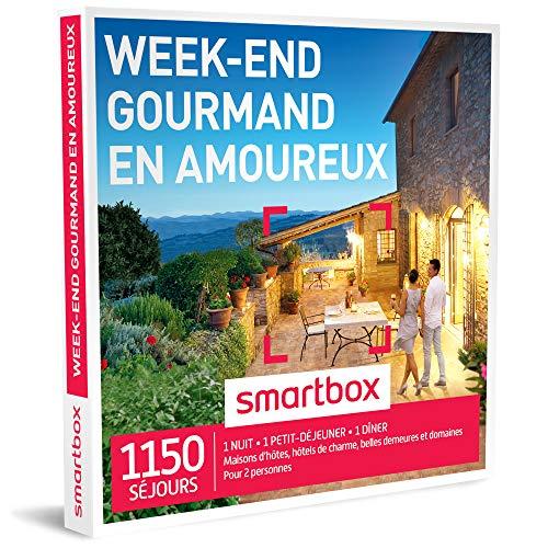 SMARTBOX - Coffret Cadeau homme femme couple - Week-end gourmand en amoureux - idée cadeau - 1150...