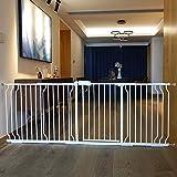 Extra breite Pet-Tore für Treppen Eingang innen, druckmontiert, Baby- / Hund- / Katzentür, Weißmetall, 61-241,9 cm breit (größe : 134-145.9cm)