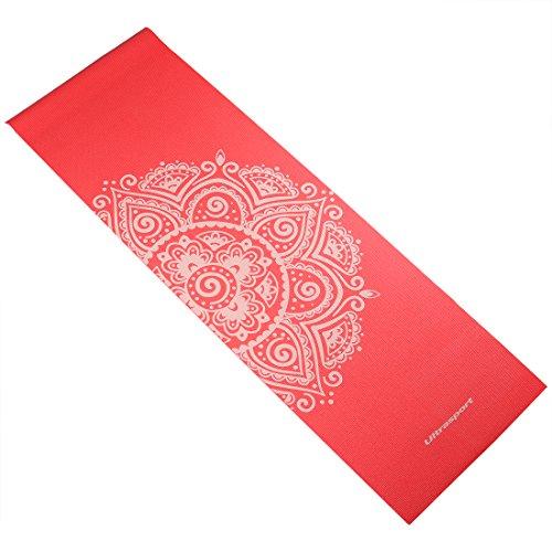 Ultrasport Esterilla de Yoga Antideslizante y sin Sustancias Nocivas de Diferentes Colores, Rosa/Blanco