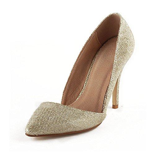 Miyoopark - Sandali con Zeppa donna , oro (Gold-9.5cm Heel), 42