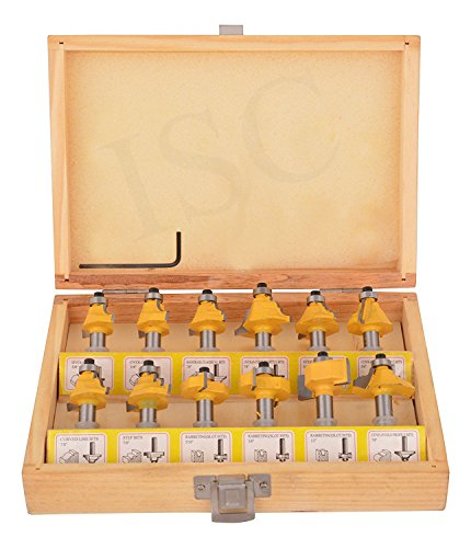 ISC 8 mm Classic Mostly Using Shapes Router Bit Set -12 Pieces