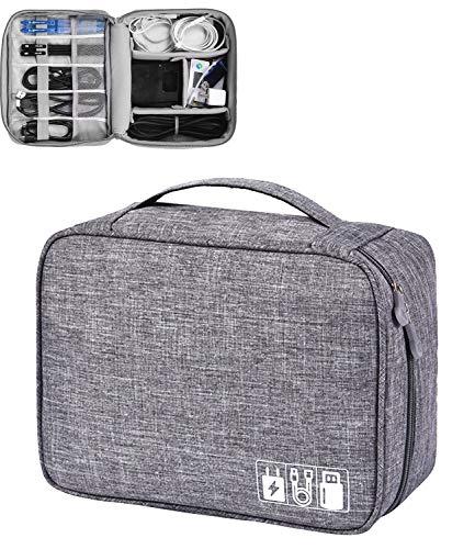 Elektronische Tasche - Elektronik zubehör organisator - universal travel Kabel Organizer Tasche(grau) (Elektronische Tasche)