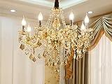 LeohomeModerne Kristall Kronleuchter Home Beleuchtung lüster de cristal Dekoration Luxus Kerze Kronleuchter Anhänger Wohnzimmer Indoor Lampe, 8 Lichter