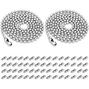 CH1690 Charming Beads 10 Metre Argento Lega di Metallo 2.4mm Palla Catena