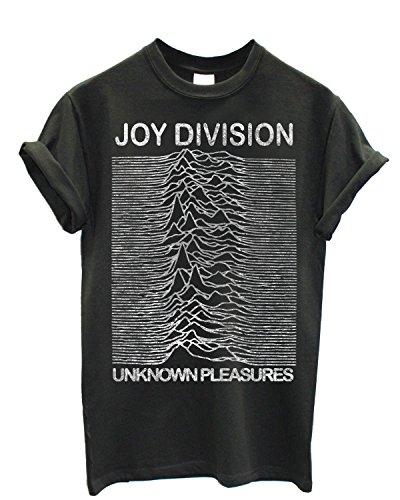 LaMAGLIERIA Camiseta Hombre Joy Division - Grunge Texture Camiseta 100% algodòn, M, Gris