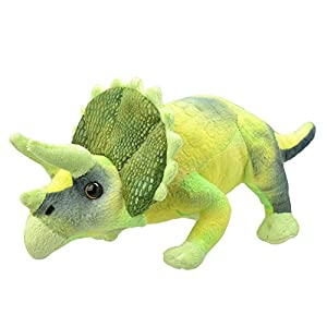 Wild Planet, All About Nature-30cm Triceratops-Hecho a Mano, Peluche Realistico, Multicolor, 30 cm (K8358)