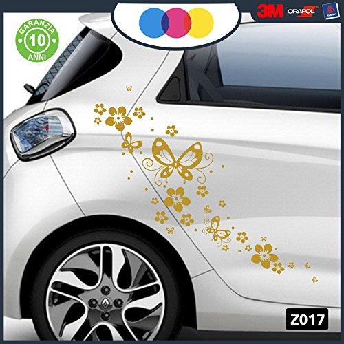 adesivi-per-auto-fiori-e-farfalle-auto-macchina-novit-auto-moto-camper-stickers-decal-dorato