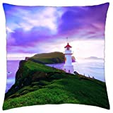 Faroe Island Lighthouse - Throw Pillow Cover Case (18