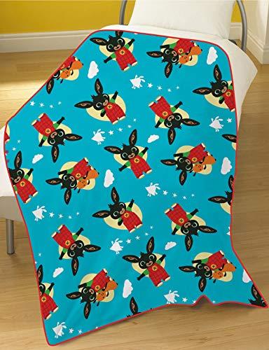 Bing bunny coperta in pile, poliestere, multicolore, 100 x 150 cm