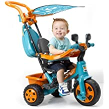 FEBER - Triciclo Baby Plus Music (Famosa), color naranja-azul