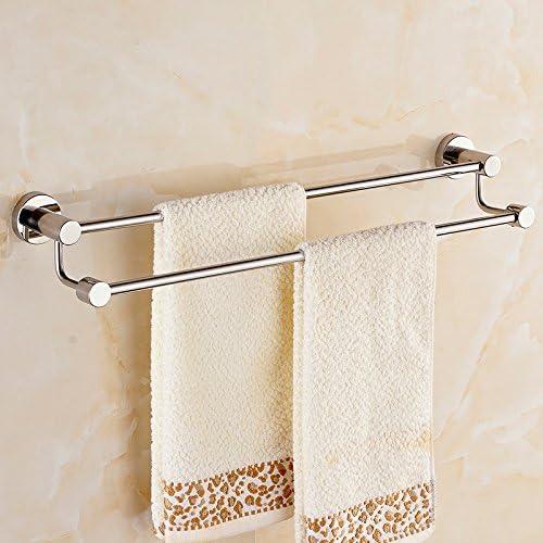 Bathroom Portasciugamani da Bagno tovagliolo Porta Asciugamani 304 in Acciaio Inossidabile Rack tovagliolo Bagno Bagno Doppia Asta tovagliolo Porta Asciugamani (Dimensioni   60cm) 0818bb