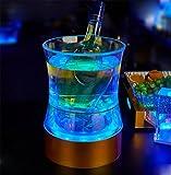 liuhoue Seau à Glace LED Coloré, Seau De Bière, Fournitures De Bureau Barre De Creative