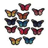 #9: MagiDeal 12x Colorful Embroidered Butterflies Applique Sewing Patches Fabric Stickers
