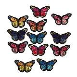 Homyl 12pcs Schmetterling Kleidung Patches zum aufbügeln oder Nähen