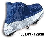 Outdoor Abdeckplane S (183 x 89 x 122cm) blau/silber für Roller / Motorrad