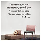 Dr.Seuss The More You Read Vinyl Decal Removable Wall Sticker Mural Home D¨¦cor