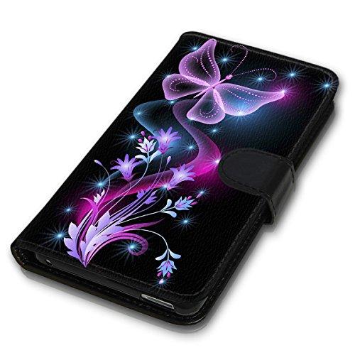 Wallet Book Style Flip Handy Tasche Case Schutz Hülle Schale Motiv Etui für Apple iPhone 4 / 4S - Variante UMV2 Design12 Design 12