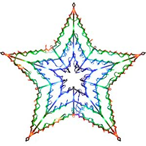 WeRChristmas Star Silhouette with 100-LED Chasing and Static Settings - Multi-Colour