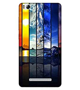For Xiaomi Redmi 4A rainbow pattern, pattern, rainbow, black backgound Designer Printed High Quality Smooth Matte Protective Mobile Case Back Pouch Cover by APEX
