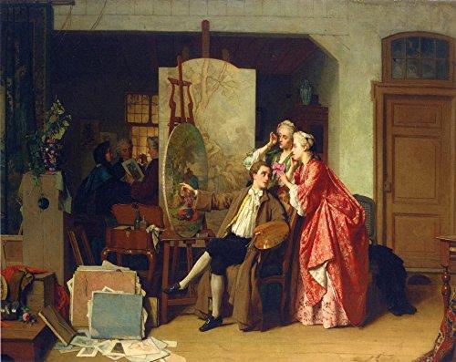 odsanart-20-x-16-cm-1-stuck-impressionismus-andere-besuch-watteaus-studiio-von-jean-carolus-hochwert