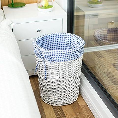 Aufbewahrungsboxen Home Lagerung Korb Hand Made Covered Mit Runde Kleidung Wäschekorb Truhen ( Farbe : A , größe : Große )