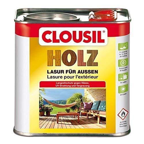 CLOUsil Holzlasur Holzschutzlasur für außen teak Nr. 9, 5L: Wetterschutz, UV-Schutz, Nässeschutz und Schimmel für alle Holzarten - in verschiedenen Farben -