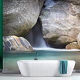 azutura Blauer Wasserfall Wandbild Natur Foto-Tapete Schlafzimmer Badezimmer Wohnkultur Erhältlich in 8 Größen Riesig Digital