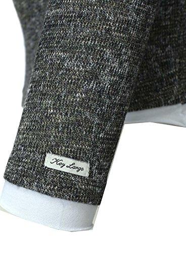 Key Largo Herren Pullover KAI Sweatshirt Double Look Melierter Stoff mit Brusttasche Dunkelgrün