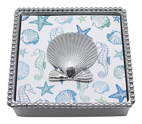 MARIPOSA Scallop Shell Perlen Serviette Box Mariposa Shell