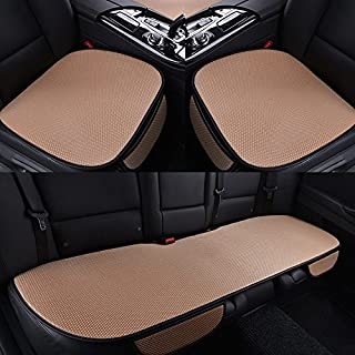 Han on Song Car Seat Covers, Car Accessories, protection for Seats, Set of 3, Beige Color beige