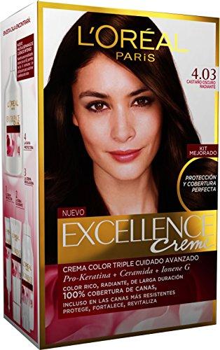 L'Oréal Paris Excellence Coloración Crème Triple Protección 4,03 Castaño Dorado