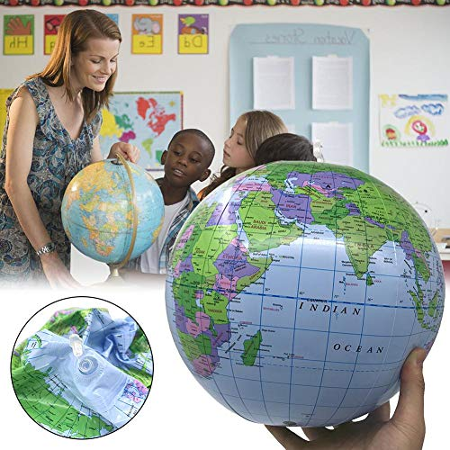 40cm Aufblasbare Weltkugel Ballon Lehren Bildung Geographie Spielzeug Karte Ballon Wasserball (farbe: Blau)