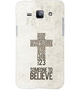 PrintDhaba QUOTE D-6940 Back Case Cover for SAMSUNG GALAXY J1 (Multi-Coloured)
