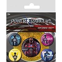 Power Rangers - Rangers, 1 X 38mm & 4 X 25mm Chapas Set De Chapas (15 x 10cm)
