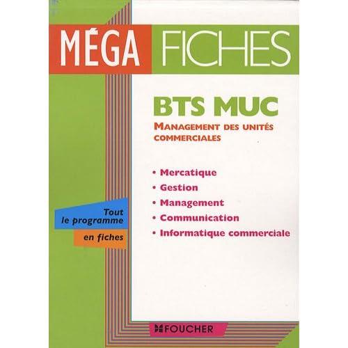 Management des unités commerciales BTS Muc