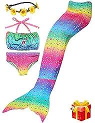 2017 verano brillante diseño de la concha de sirena traje de baño chica de dos piezas material cómodo bikini set Coronas de regalo de navidad regalo de cumpleaños