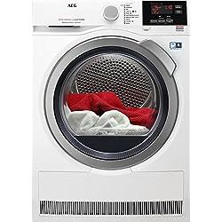 AEG T8DBG862 Autonome Charge avant 8kg A+++ Blanc - Sèche-linge (Autonome, Charge avant, Pompe à chaleur, Blanc, boutons, Rotatif, Gauche)