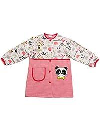 Dyneke Bata escolar botón rojo Panda (personalización opcional gratuita con nombre ...